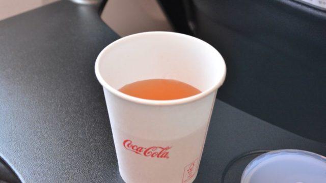 JALの機内飲み物はコンソメスープがおいしい!